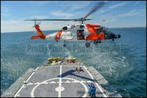 USCG Cape Cod MH-60T Jayhawk Orange Flag 2015 8x12 Photo