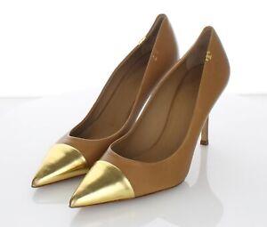 35-35 $378 Women's Sz 9 M Tory Burch Penelope Cap Toe Leather Pump