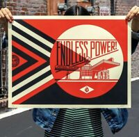 OBEY Endless Power Petrol Palace Red Shepard Fairey Rare Signed Print IN HAND