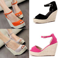 Women's Shoes Sandals Wedge Heels Summer High Platform Open Toe Shoes Elegant