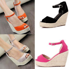Women's Shoes Sandals Wedge Heels Summer High Platform Open Toe Shoes Elegant