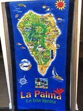 1980's La Palma Beach Towel La Isla Bonita Perfect Velour 100% Cotton