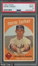 1959 Topps #107 Norm Larker Los Angeles Dodgers PSA 9 MINT