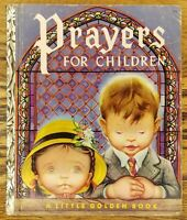 A Little Golden Book - Prayers for Children - 1952 - Great Condition