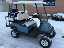 2012 Club Car Golf Cart  LIFT Custom wheels 4 passenger flip seat Blue  Body 48V