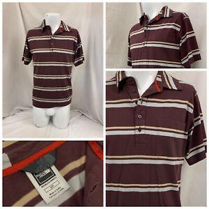 The North Face Shirt S Purple Stripe 100% Cotton Short Sleeve YGI W1-159