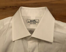 New Without Tag HERMES Men's 100% Cotton White Dress Shirt (Size 15 1/2 - 39)
