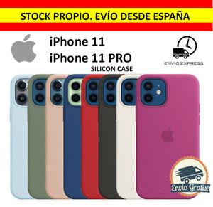 Funda SILICONA para IPHONE 11 / 11 Pro Forro Microfibra Calidad 100% Con Logo