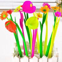 6Pcs Fashion Cute Flower Leaf Gel Ball Pens Office School Supply Stationery new