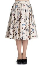 Hell Bunny Circus Horse Clown Vintage Retro Rockabilly 40s 50s Skirt Flare Swing