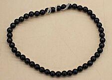 Black Onyx Beads Elastic Bracelet (7.5)
