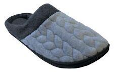 Dearfoams Women's Quilted Fleece Clog Memory Foam Slippers (Medium/7-8, Grey)