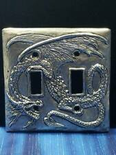 Dragon Pewter Light Switch Plate Double Switch Fellowship Foundry US Made
