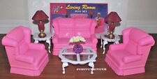 GLORIADOLL HOUSE FURNITURE Traditional LIVING ROOM SOFA PLAY SET FOR BARBIE