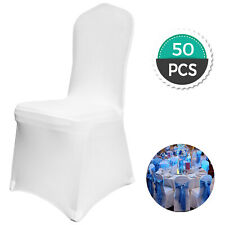 50PCS Spandex Lycra White Chair Covers Wedding Banquet Anniversary Party Decor