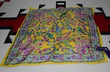 Ralph Lauren Collection Purple Label Made in Italy 100% Silk Scarf