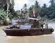 Vietnam War U.S. Navy On Patrol Cruising Saigon River 1970 8.5x11 Photo
