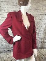 VINTAGE Missoni 'Donna' Jacket Blazer RED Made In Italy - 8  Rare