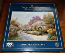 Thomas Kinkade - Cobblestone Village - Gibsons 1000 Piece Jigsaw Puzzle