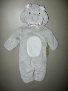 NWT Pottery Barn Kids BABY HIPPO Halloween Costume Size 0-6 Months ADORABLE!