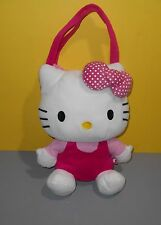 "Classic Pink Look 14"" Sanrio Hello Kitty Stuffed Plush Child's Purse / Tote"