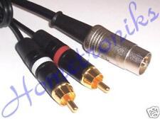 Audiophile 5 Pin Din Plug to 2x Phono (RCA) femelle câble plomb pour quad, Naim 1 m
