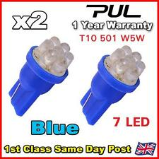 2 X 7 LED HID BLUE 501 T10 W5W SIDELIGHT / NUMBER PLATE / INTERIOR BULBS