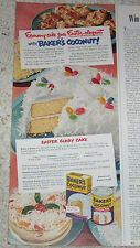 1951 advertising - Baker's Coconut Easter Glory cake recipe General Foods OLD AD