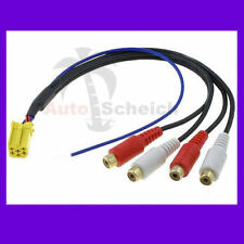 MINI ISO AUX Adapter 4 Chinch Kabel für Blaupunkt VDO VW Audi Seat Skoda Ford