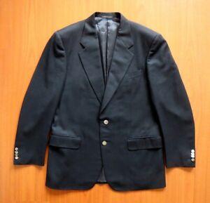 Pierre Cardin Black Wool & Cashmere Blazer with Designer Buttons Size M