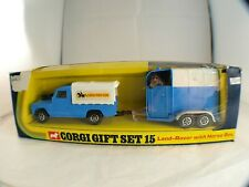 Corgi Gb Gift Set n°15 Land rover Horse box Trailer Van chevaux neuf boite rare