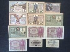 Collection Lot of 12 Old Austria Banknotes Heller Kronen 1919-1922 Paper Money