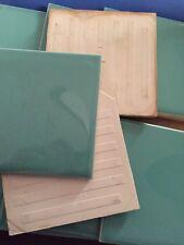PRICE REDUCED Vintage Ceramic Tile Shiny Mint Green NOS forRestoration Work  SU5