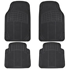 4PC Rubber Liner for Ford Fusion Floor Mats Black All Weather Semi Custom Fit
