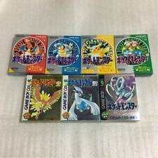 GameBoy 7 Pokemon set Green Red Yellow Blue Silver Gold Crystal GB GBC