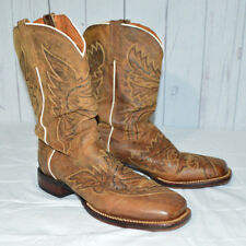 Dan Post DP 2930 Sidecar Brown Leather Cowboy Boots Mens Size 10.5 Western