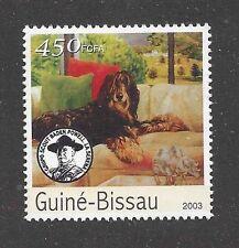 Dog Art Body Portrait Postage Stamp AFGHAN HOUND Guinea Bissau 2003 MNH