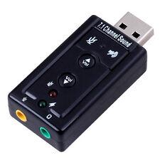 Sound Card scheda audio virtuale sonora USB esterna 7.1ch microfono cuffie 3,5mm