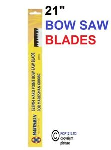 """21"""" Bow Saw Heavy Duty Tree Branch Wood Log Pruning Guard 2 Spare Sharp Blade 34"""