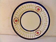 Antique Paragon China Hand Painted Side Plate.Floral Panel.Cobalt Blue Gold Trim