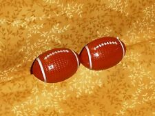 Football Cupcake Rings,Plastic,Bakery Crafts,Brown,Cake Decoration,12 ct.