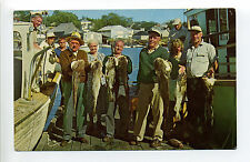 ME Maine Happy Fishermen, people with fish, great smiles, 1950's?