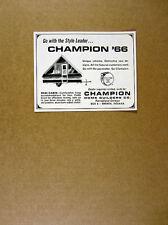 1966 Champion Redi-Cabin Chalet style Camper Trailer vintage print Ad