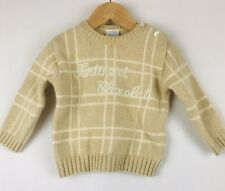 Tartine Et Chocolat Catherine Painvin Paris Baby Beige White Stripe Sweater 12mo