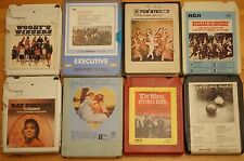Vintage 8 Track 8 Various Mixed Cartridges All VG Order Great Selection ST16