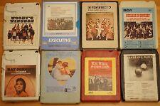 Vintage 8 Track 8 cartuchos de diversos mezclados todos en muy buena condición pedido Gran Selección ST16