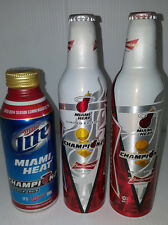 Budweiser Miami Heat 2006 2012 & 2013 Championship Limited Edition Aluminum Cans