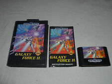 BOXED SEGA GENESIS VIDEO GAME GALAXY FORCE II 2 COMPLETE W BOX & MANUAL NOMAD >>