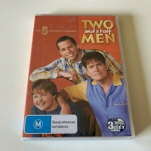 TWO and a half MEN The 5 Complete Fifth Season DVD (3 Disc Set) Pal 4 NEW Sealed