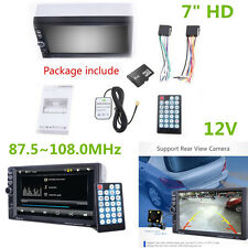 "7"" HD Car GPS Navigation 2 Din Car Bluetooth Stereo FM Radio MP5 Player AUX 2RCA"